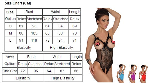 HHF Lingerie size chart