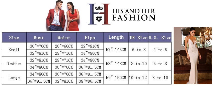 HIS AND HER FASHION SIZE CHART