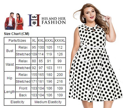 Polka Dot Plus Size Women Dress