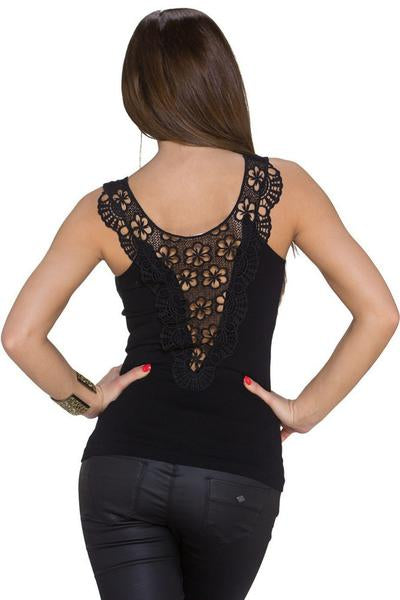 http://hisandherfashion.com/collections/blouses-tops-shirts/products/black-trendy-tank-top-lace-back-stretch-round-neck-top-1