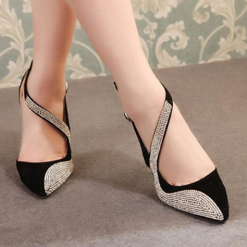"Western Design  Stiletto Rainstone 11cm High Heel ""Elegant Series"" Shoes"