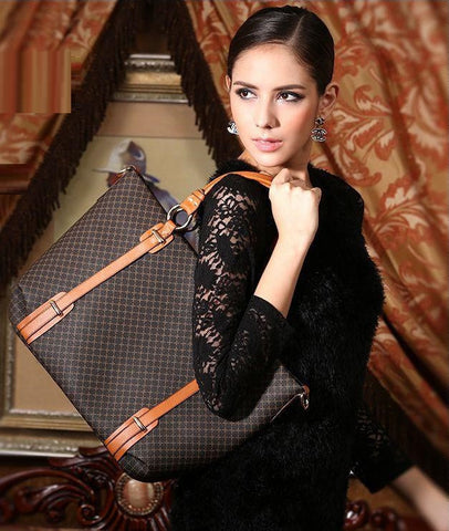 """Impression Series"" 2015 New Design !!! Vintage Handbag PU Leather"