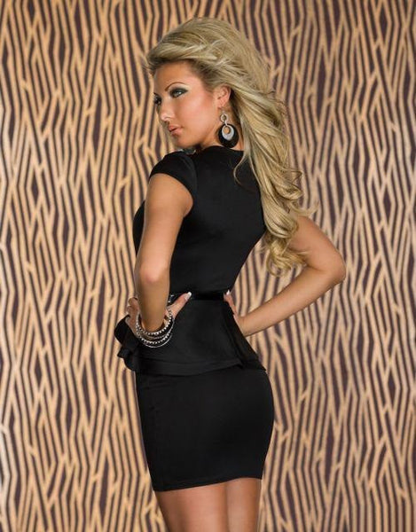 """Chic Series"" Paris Black Strapless Padded Mini Dress"