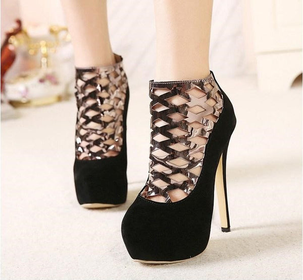 "Ankle Boots New Style Women Pumps Femininas High Heels Shoes ""Trendy Series"""