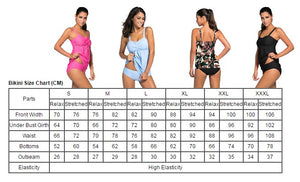 Her Fashion Light Blue 2pcs Swing Trendy Tankini Swimsuit