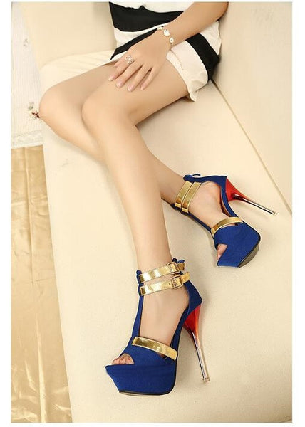 """Chic Series""  T-Strap Fashion High Heels Dress Sandals"
