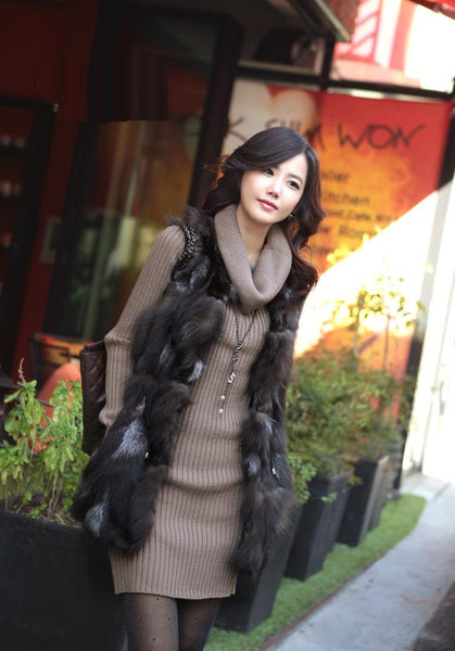 2014 Winter Collection Turtleneck Sweater Dress Thickening Pullover Long Sleeve Knitted Sweater .