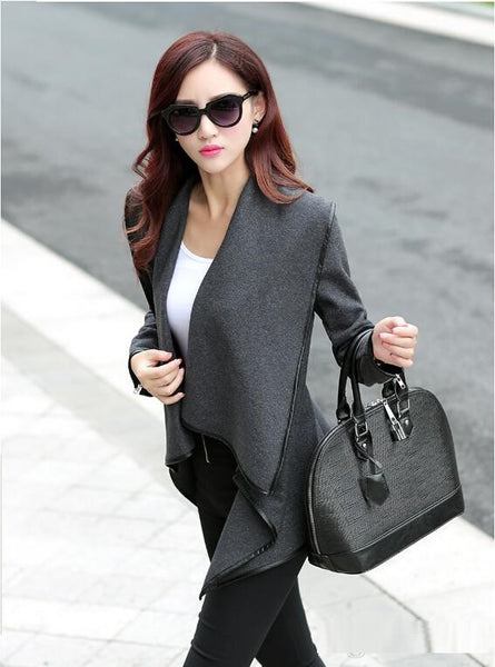 """Trendy Series"" European Style Synthetic Woolen Cape/Poncho with Sleeves"