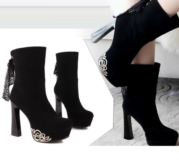 New Toil Low Lace-Up Boots !  Modern Sexy looks + Metal Decoration