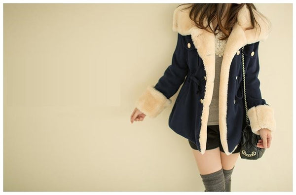 Double breasted cashmere winter wool coat