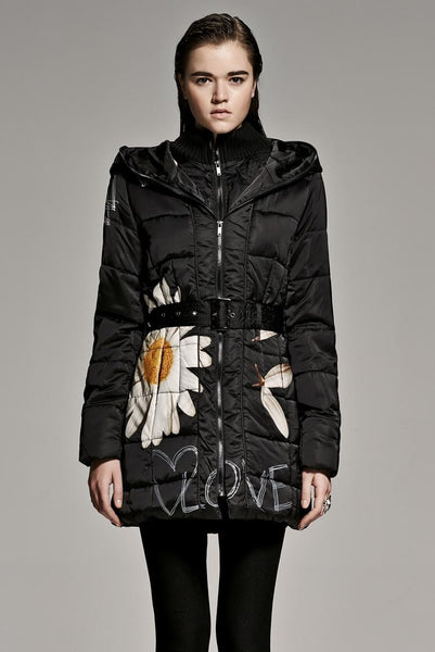 New Hip  winter jacket cotton-padded clothes 3/4 length Jasmine Serious Coat