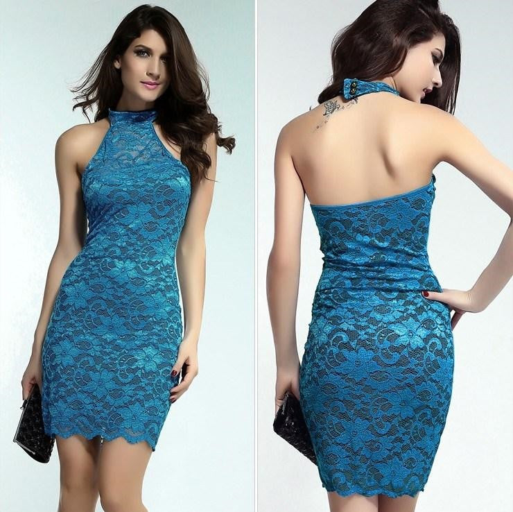 Sleeveless Lace Elegant Mini Dress