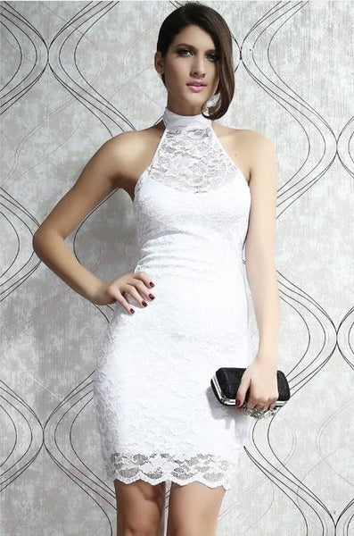 Sleeveless Lace Elegant Mini Mod Dress