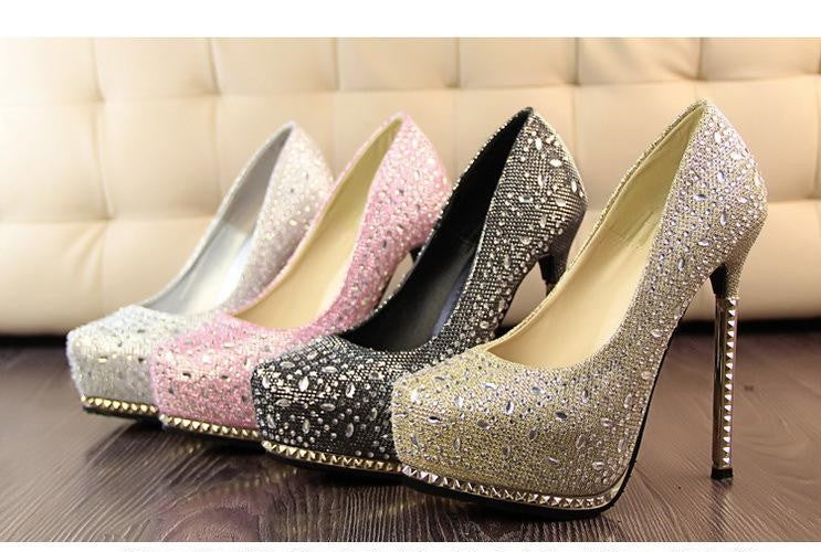 NEW Arrival Lady Rhinestone High Quality Fashion Dress Shoes