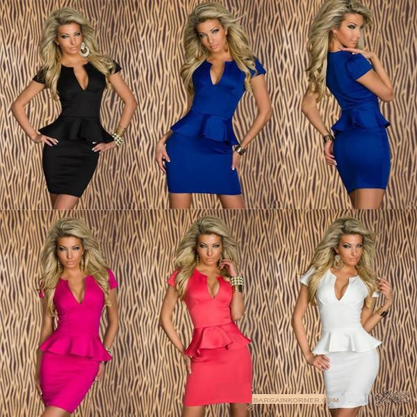 New Fashion Elegant Formal & Casual  V Cut Ladies Dress