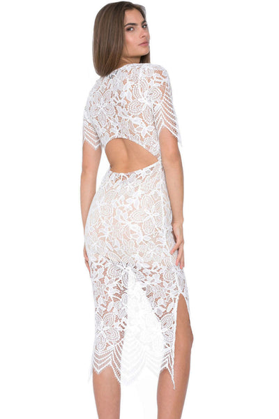 Beautiful Patchwork Soft Sheer Floral Lace Maxi Dress