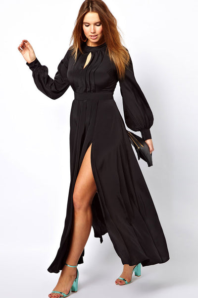 Her Fashion Big'n'Trendy Plus Size Frilled Maxi Dress with Bell Sleeves
