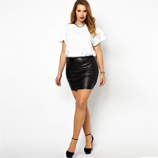 BignTrendy Slim Fit Mini Skirt with Zipper
