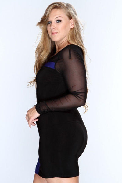 """Trendy Series"" Long Sleeve Slim Bodycon Party Cocktail Mini Dress"