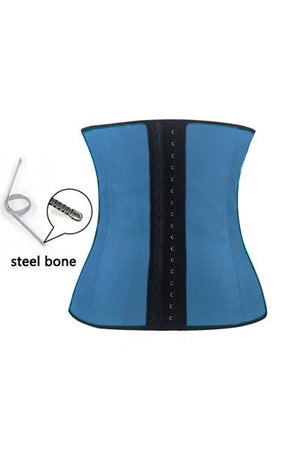 Blue 4 Steel Bones HerFashion Latex Under Bust Corset