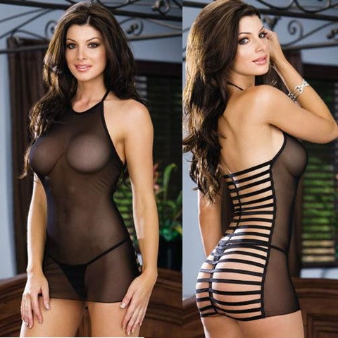 """Bold Series"" Europeon Racy Sexy Backless Elasticity Net Yarn Lingerie"
