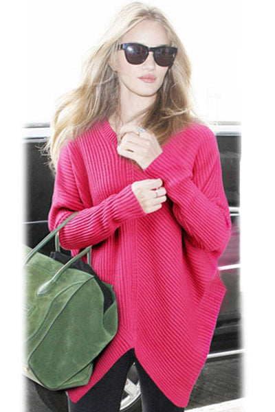 Chic Asymmetrical Pullover Sweater