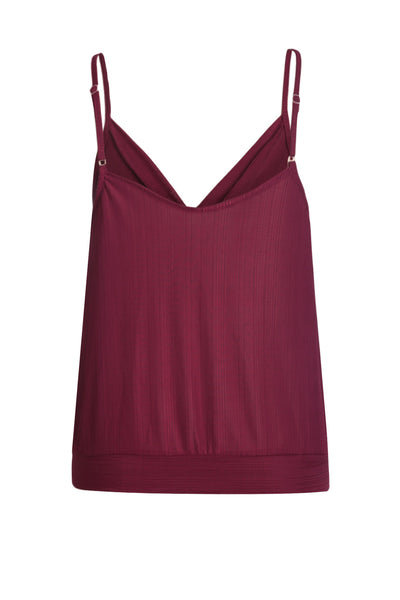Chic Buttons Down Her Fashion Red V Neckline Sleeveless Tank Top