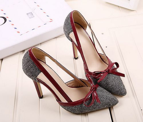 Chic Design With Bow High Heel Women Shoes
