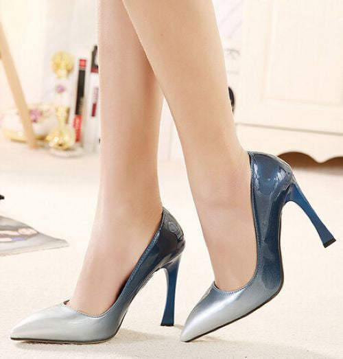 Chic Multi Shade Pointed-Toe High Heel Shoes