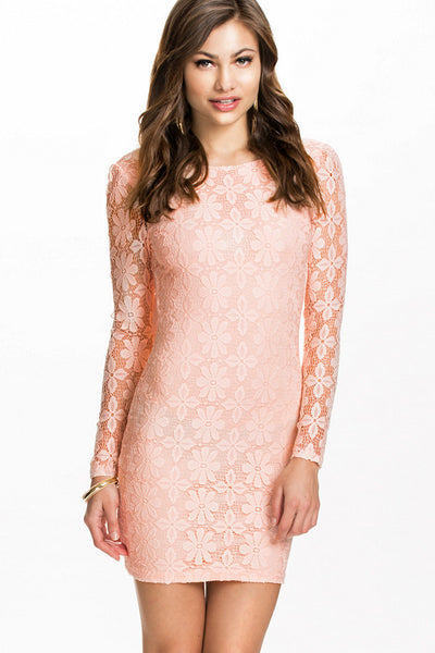 Backless Lace Chic Series Club Dress