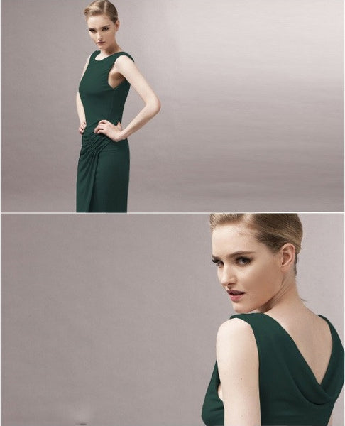 """Chic Series"" European Slim thin  Asymmetrical Hem Dress"