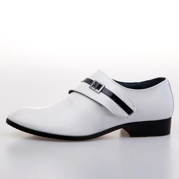 """Chic Series"" Men's Leather Shoes  White / Black / Brown"
