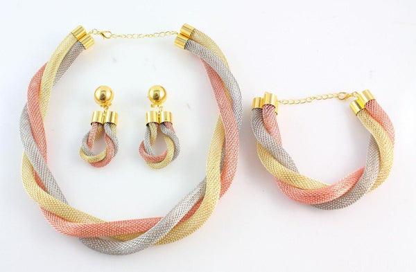 """Chic Series"" Romantic Gold Plated Mysterious Charming Jewelry Set"