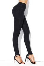 Classic Navy Blue Elastic Waist Jeans Stretch Her Fashion Pants for Women