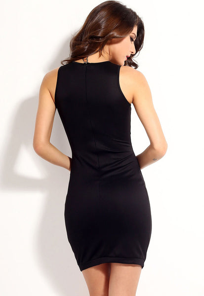 Classic Block Slim Chic Slender Bodycon Women Dress