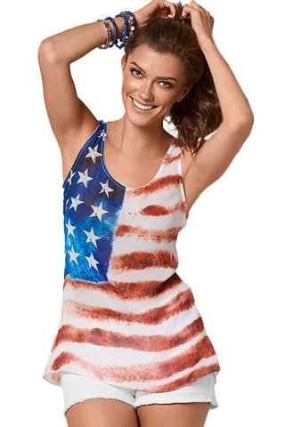 Daily Wear American Stars and Stripes Flag Sleeveless Tank Top