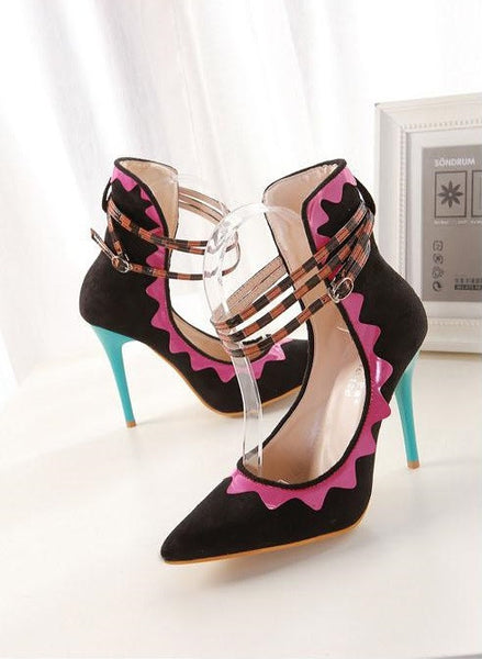 "European Style High Heeled Pointed Belt Buckle Roman Style Shoes ""Chic Series"""
