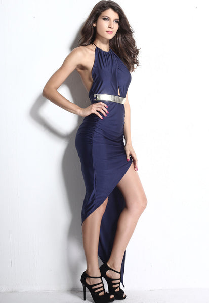 Elegant Flirtatious Asymmetrical Hemline Stylish Evening Dress