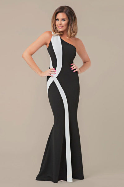 Elegant One Shoulder HerFashion Mermaid Maxi Dress