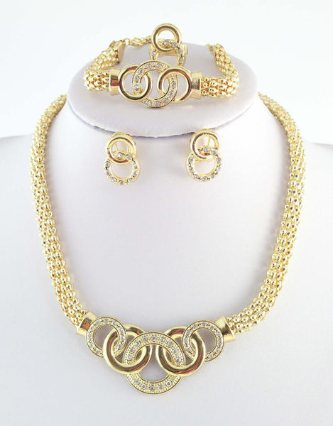"""Elegant Series"" 18k Gold Plated African Costume Jewelry"