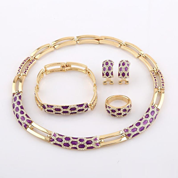 """Elegant Series"" European Classic  Gold Plated Jewelry"