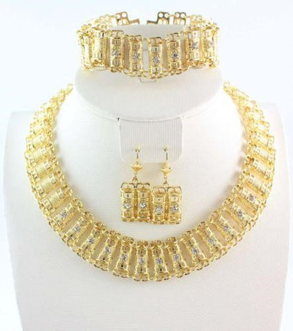 """Elegant Series"" Gold Plated Charming Exquisite Jewelry Sets"