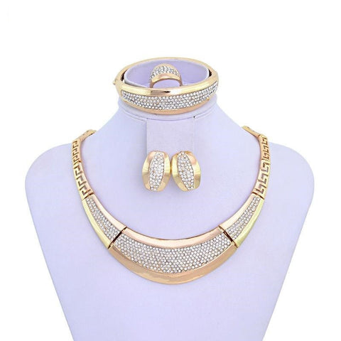 """Elegant Series"" Thick Big Jewelry Gold Plated Dubai Fashion Jewelry"