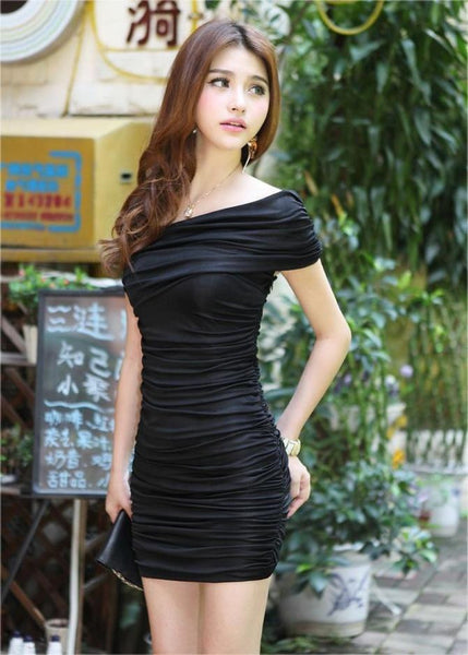 """Elegant Series"" Wrinkle Tight Fitting Rayon Cocktail Mini Dress"