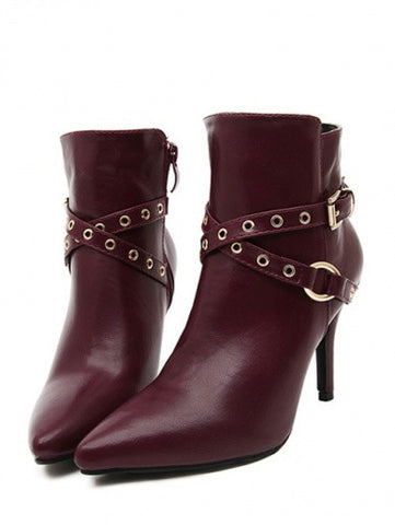 European Style Fashion Rivet Decoration Ankle Boots
