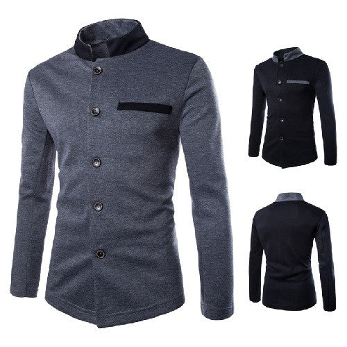 HisandHerFashion Ever Lasting Color's Collar Tunic Jacket Chic Men's Casual Jackets