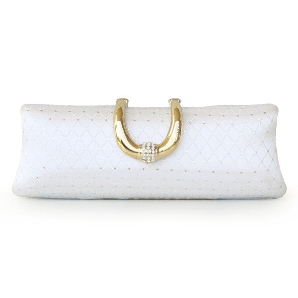 Exquisite Luxury Silk Rhinestone Stainless Steel Women's Purse Clutches