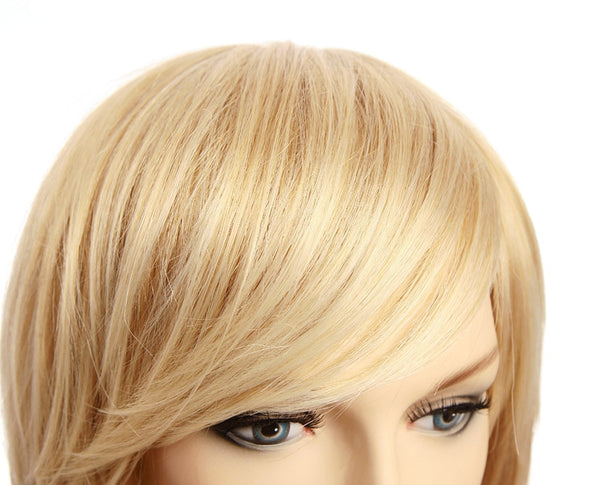 Fashion Glamorous Charming Short blond Stright 100% Synthetic Hair Wigs