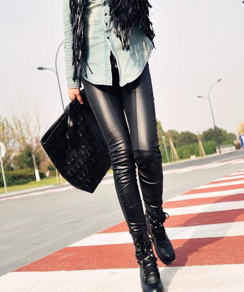 "Leather Like Legging Pants ""Chic Series"" New Arrival"