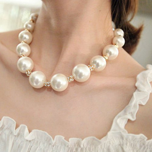 """Trendy Series"" Faux Pearl Necklace"